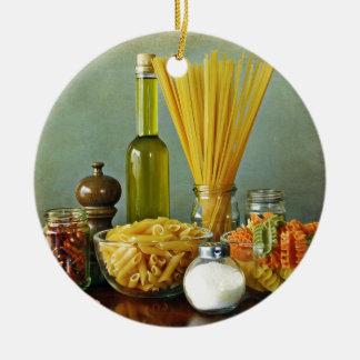 aglio, olio e peperoncino (garlic, oil and chili) christmas tree ornament