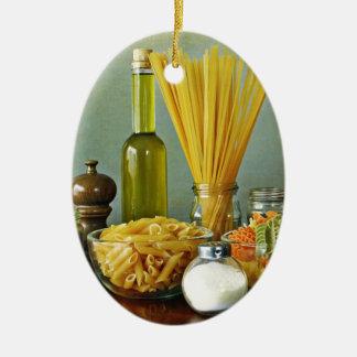 aglio, olio e peperoncino (garlic, oil and chili) christmas ornaments