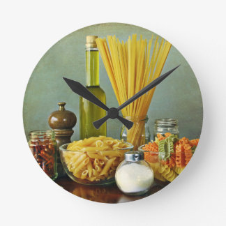 aglio, olio e peperoncino (garlic, oil and chili) round clock