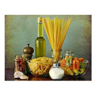 aglio, peperoncino de la ensaladilla e (ajo, tarjeta postal