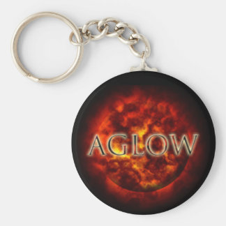 Aglow meaningful image basic round button keychain