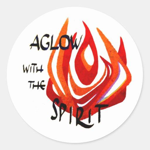 Aglow with the Spirit Classic Round Sticker