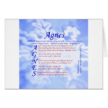 Agnes Acrostic Greeting Cards