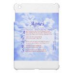 Agnes Acrostic iPad Mini Case
