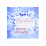 Agnes Acrostic Postcard
