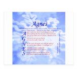 Agnes Acrostic Postcards