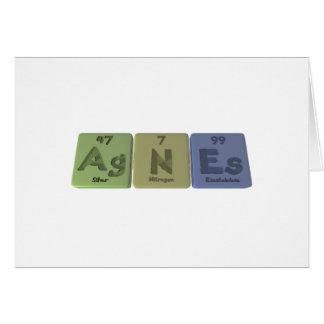 Agnes as Silver Nitrogen Einsteinium Card