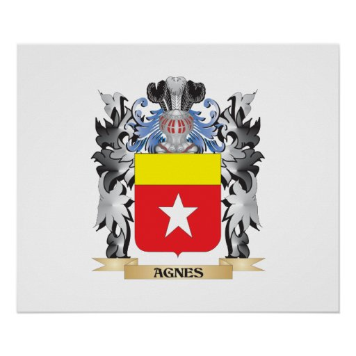 Agnes Coat of Arms - Family Crest Poster