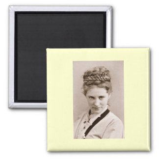Agnes Ethel by Napoleon Sarony, 1870 2 Inch Square Magnet