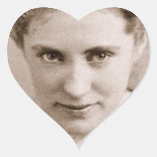Agnes Ethel by Napoleon Sarony, 1870 Heart Sticker