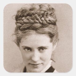 Agnes Ethel by Napoleon Sarony, 1870 Square Sticker