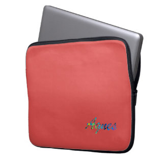 Agnes Laptop Sleeve in Red