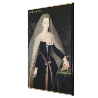 Agnes Sorel  Favourite of Charles VII Canvas Print