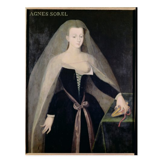 Agnes Sorel  Favourite of Charles VII Postcard