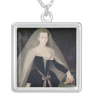 Agnes Sorel  Favourite of Charles VII Square Pendant Necklace