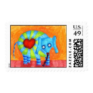 Agnes the Love Elephant Postage Stamp