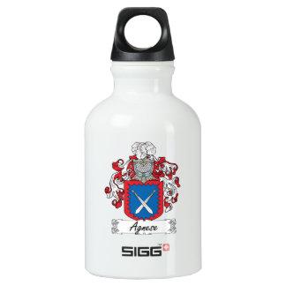Agnese Family Crest Aluminum Water Bottle