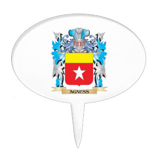 Agness Coat Of Arms Cake Topper