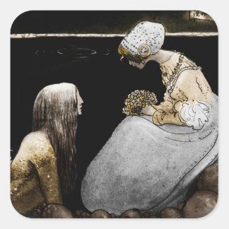Agneta and the Sea King Square Stickers