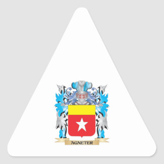 Agneter Coat Of Arms Triangle Stickers