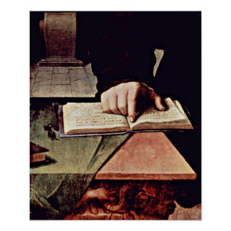 Agnolo di Cosimo - Hand in the open book Poster