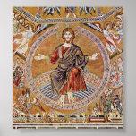 Agnolo Gaddi - Cristo Pantokrator Póster