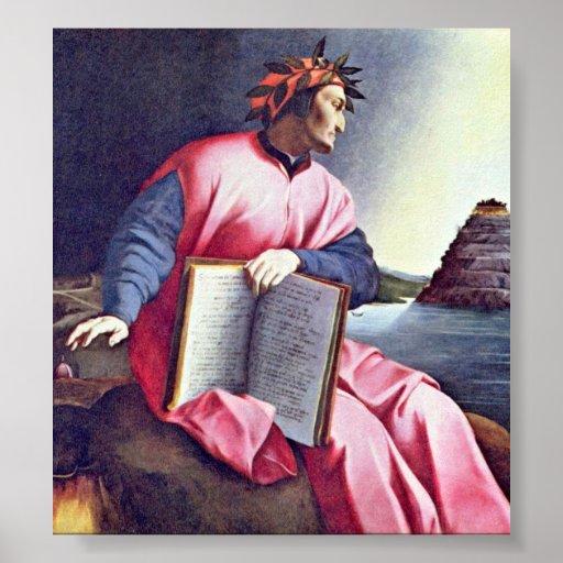 Agnolo Gaddi - retrato alegórico (Dante) Póster