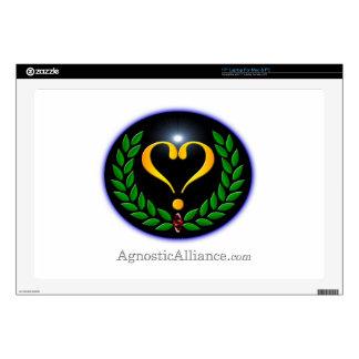 "Agnostic Alliance - 17"" Laptop Decal (White)"
