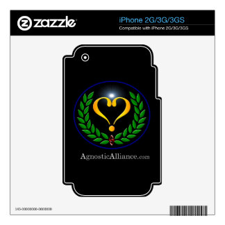 Agnostic Alliance - iPhone 2G/3G/3GS Skin Decals For The iPhone 3GS