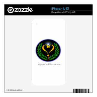 Agnostic Alliance - iPhone 4/4S (White) Skin For iPhone 4S