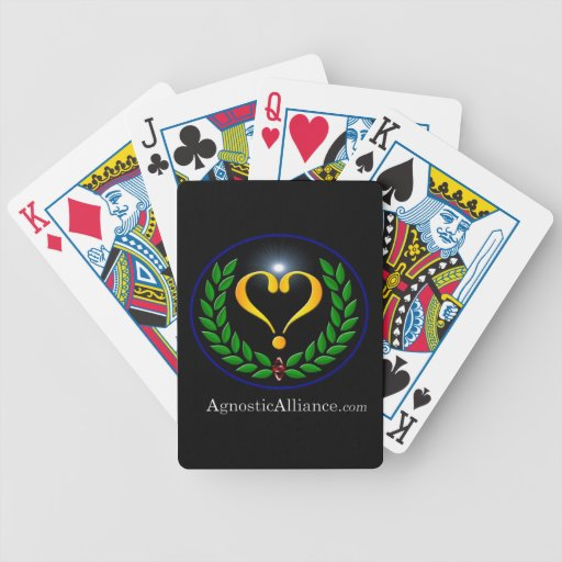 Agnostic Alliance  - Playing Cards, Black
