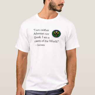 Agnostic Alliance World Citizen Socrates T-Shirt