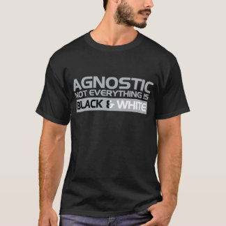 Agnostic Black and White T-Shirt