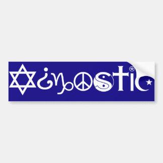 Agnostic Bumper Sticker