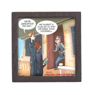 Agnostic Missionaries Funny Keepsake Box