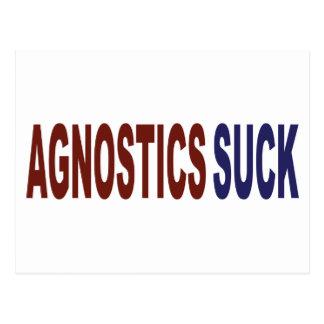 Agnostics Suck Postcard