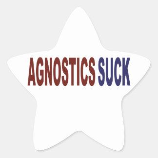Agnostics Suck Star Sticker