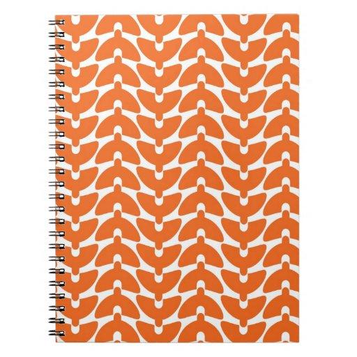 Agolpamiento anaranjado cuadernos