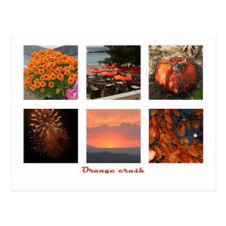 Agolpamiento anaranjado postal