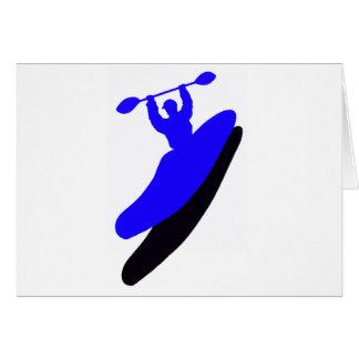 Agolpamiento azul del kajak tarjeta