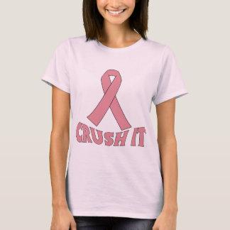 AGOLPAMIENTO del cáncer de pecho ÉL cinta del rosa Playera