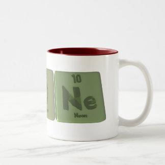 Agone-Ag-O-Ne-Silver-Oxygen-Neon Two-Tone Coffee Mug