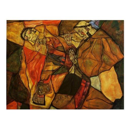 Agonía de Egon Schiele- Tarjeta Postal