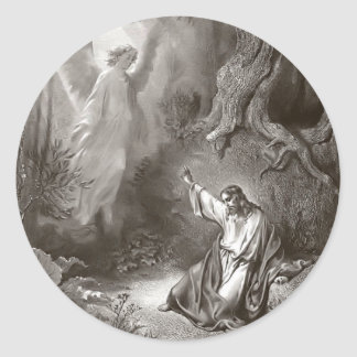 Agonía de Jesús en el pegatina religioso del