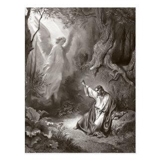 Agonía de Jesús en la postal religiosa del jardín