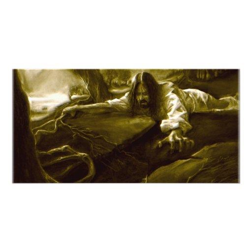 Agonía del Jesucristo en el jardín de Gethsemane Tarjeta Fotográfica Personalizada