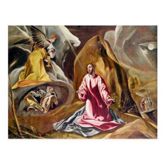 Agonía en el jardín de Gethsemane, c.1590 Postal