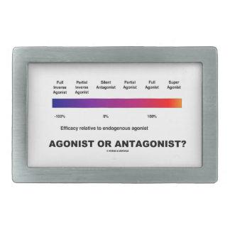 ¿Agonista o antagonista?  (Espectro de la eficacia Hebillas Cinturón Rectangulares