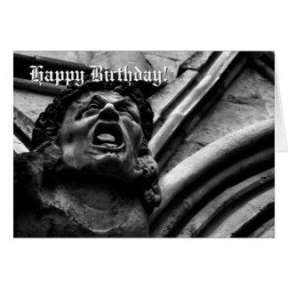 Agony of the Biting Imps Gothic Gargoyle birthday Card