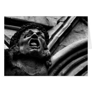 Agony of the Biting Imps Gothic Gargoyle blank Stationery Note Card